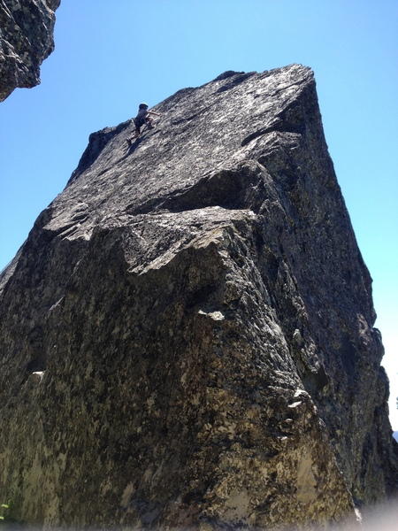 Cadence Brown climbing 'Foxtrot' on the The Spire