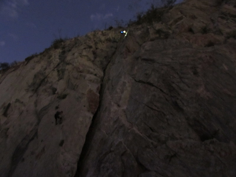 cleaning routes / night climbing