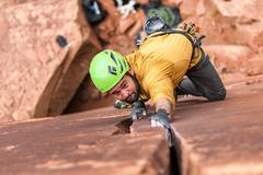 Rock Climbing Photo: Will Cranking past the lower blocks!