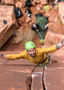 Rock Climbing Photo: Find the knee bar!