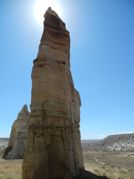 This splendid area has a halo of spiritual beauty attached to the many spires rising from the long dead sand.
