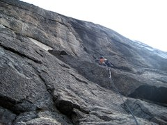 Rock Climbing Photo: Third crux of the day