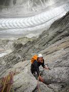Rock Climbing Photo: Children of the Moon. Higher up the Aiguille du Ro...