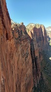 Rock Climbing Photo: The view up-canyon from the upper half of the rout...