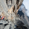Spicy 5.9 at 15,000 ft up Point Peter on Mt Kenya.