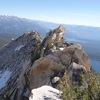 Looking back at the summit ridge traverse