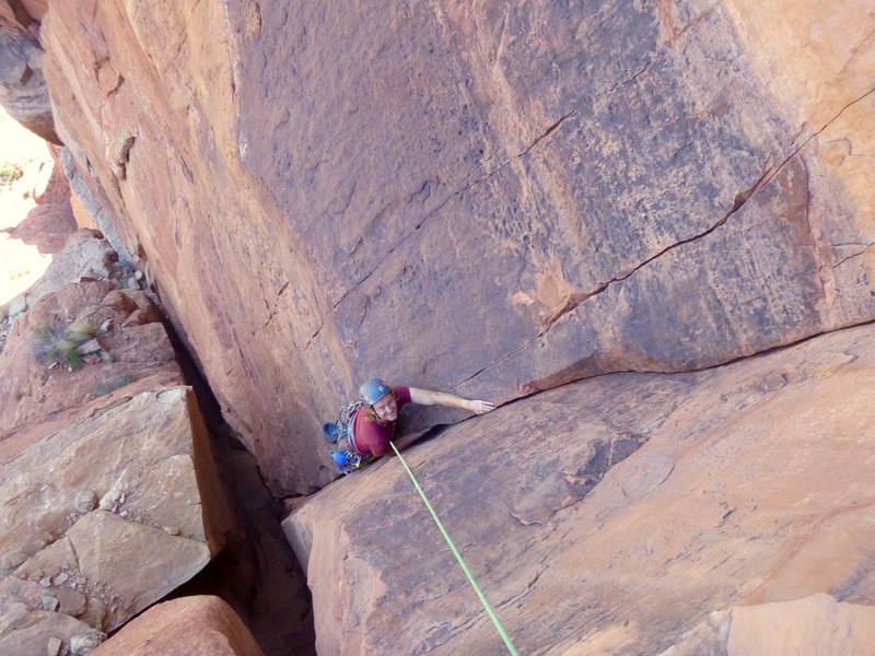 Short fingercrack deviation from the P3 chimney - highly recommended.