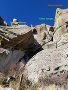 Rock Climbing Photo: Grunt and Moan (rope is on this one) and access gu...