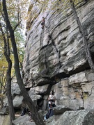 Rock Climbing Photo: Just after the crux on P38