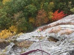 Rock Climbing Photo: Tatiana following pitch 1
