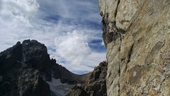 P6. Climb up and left around arete.
