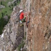 Sage on the 3rd ascent of Hidden Gold