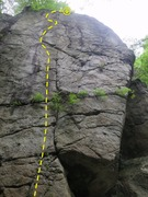 Rock Climbing Photo: Right side of the Crime Scene, before any routes.