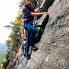 Ben Hoste on pitch 2 of Blueberry Ledges. Photo by Ryan Jones.