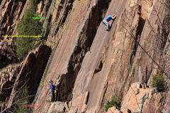 Rock Climbing Photo: Monarch in Yellow showing optional finish to Amalg...