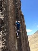Rock Climbing Photo: Heading up La Negra Luly