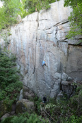 Rock Climbing Photo: Buzz Off (12b). The crux tips crack is in the uppe...