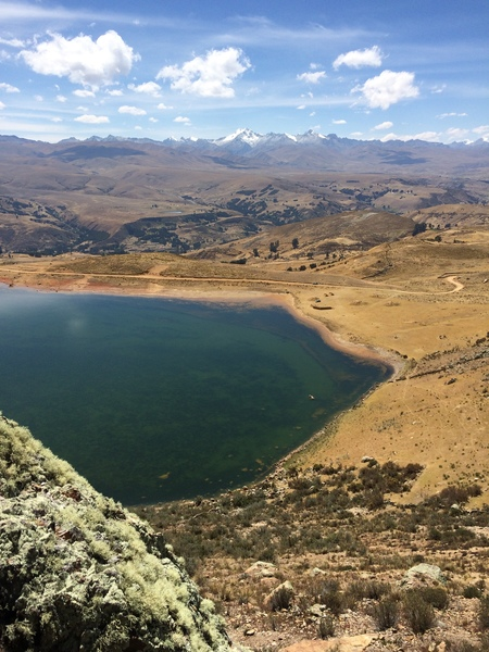 View of lake from start of climb