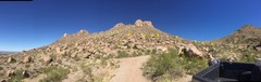 panorama of the boulder slope