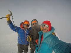 Summit of Denali after climbing the Cassin Ridge. 6/6/2017