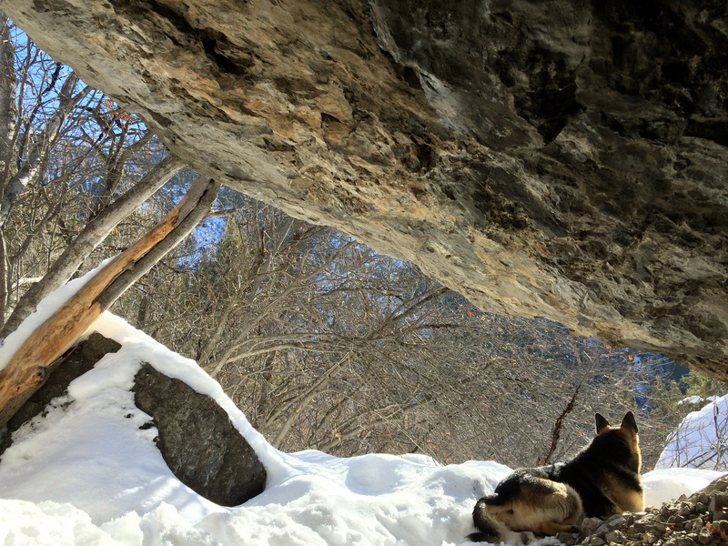 Chillin at the slave cave in january