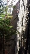Rock Climbing Photo: Matt Elliott leading Eco-Challenge. 