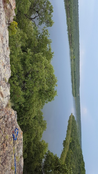Lake Mineral Wells view from the top of the Cave Tower