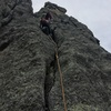 Mark Rafferty on the first ascent of the second pitch