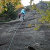 Ailie Byers leads P1, 3rd ascent