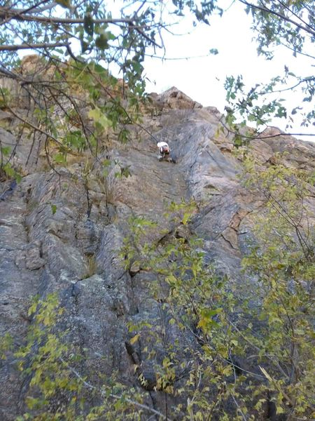 The upper dihedral on rappel.