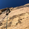 Sam Boyce on the Upper hand crack pitch.