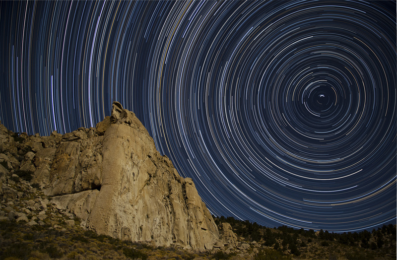 Star Trails over Hair Raiser Buttress