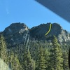 View from Gap Road, I've outlined the path of the route in yellow.