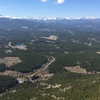 View from the first belay ledge, 195' at this point.