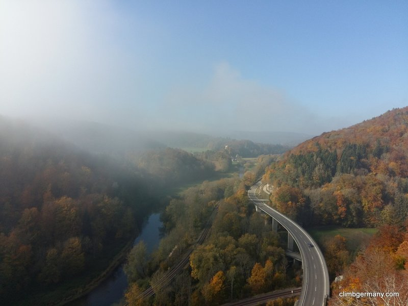 View after topping out, westwards towards Hausen im Tal