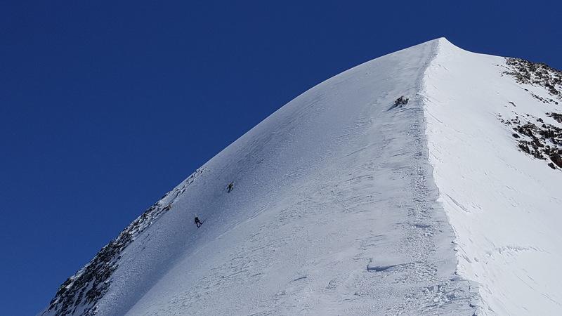 Small in comparison to the north face of Wildspitze in Austria