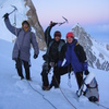 Dima Shirokov, Aleksey Shuryev, Sergey Matusevich on top of Tooth Obsession
