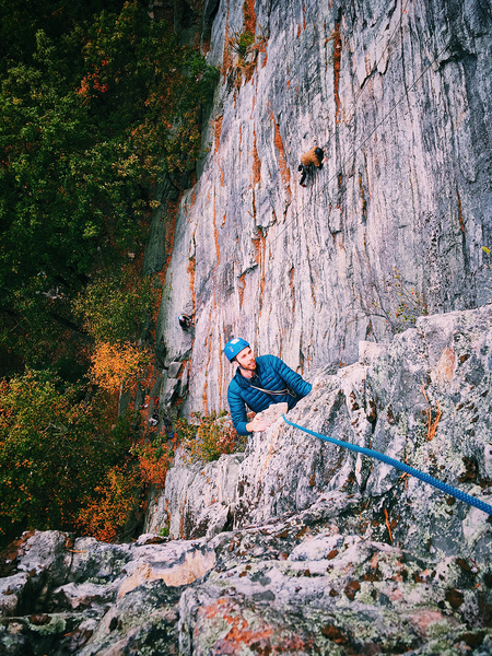 Ben Hoste finishing up the first pitch of Cold Turkeys. Oct. 2017.