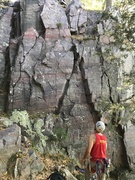 Rock Climbing Photo: Left side of this pic, the discontinuous crack sys...