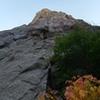 At the base of climb.