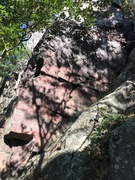 Rock Climbing Photo: Start low and left, move up then right across the ...