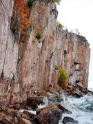 Rock Climbing Photo: Climbing Mann Act in a stormy weather. October, 20...