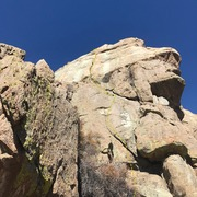 Rock Climbing Photo: Looking up at the route