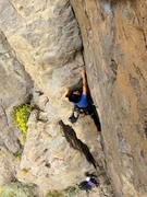 Rock Climbing Photo: Maidy on thr first ascent of Phylanthropy