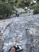 Leading P1 of tree Root, super fun climbing!!