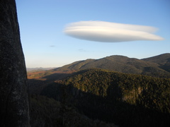 Lenticular cloud as seen from top of p3
