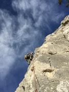 Rock Climbing Photo: Late season stroll up the arete.