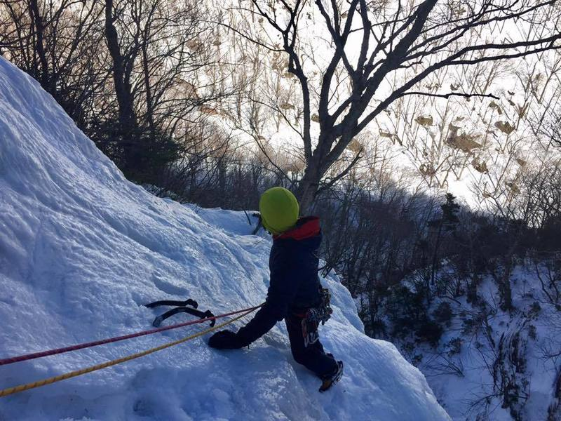 Eric finishing up Terror-Tory on a beautiful winter day in Smuggs