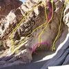 1. The Fiddler<br> 2. Rats-n-Bees<br> 3. Bats-n-Bees<br> 4. Lock and Key<br> 5. Hook & bird beak aid boulder problem<br> 6. Bats-n-Rats