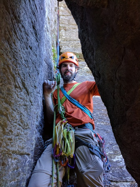 racking up for the final pitch in the alcove.